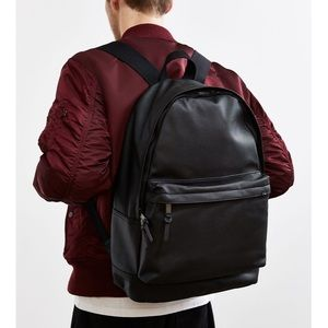 Urban Outfitters faux leather backpack in black